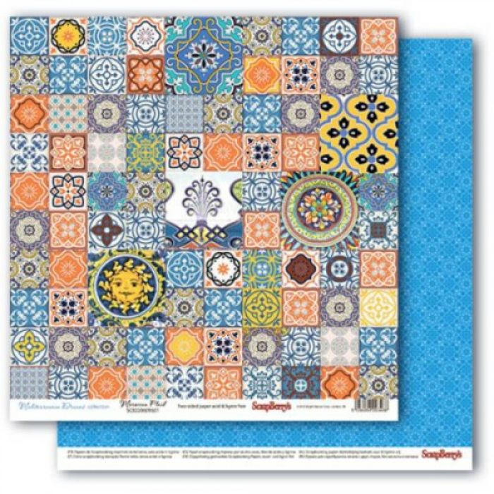 Бумага марокканская плитка, коллекция средиземноморье для скрапбукинга