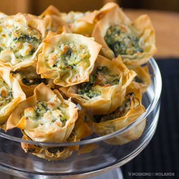 I love spanakopita but sometimes along with other appetizers they can be filling. These little Spanakopita Tarts are the perfect size.