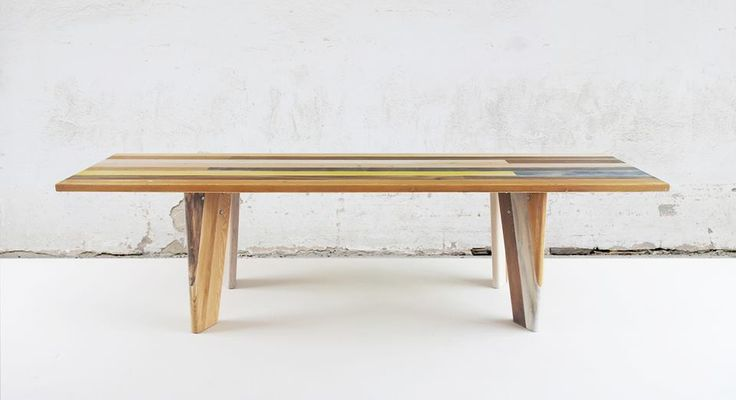 Dining table TAFEL recycled wood