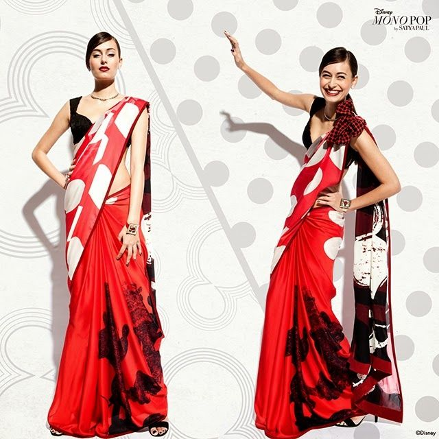 Top Indian fashion and lifestyle blog: Fashion Alert: Mickey Mouse Sari. Yay or Nay?