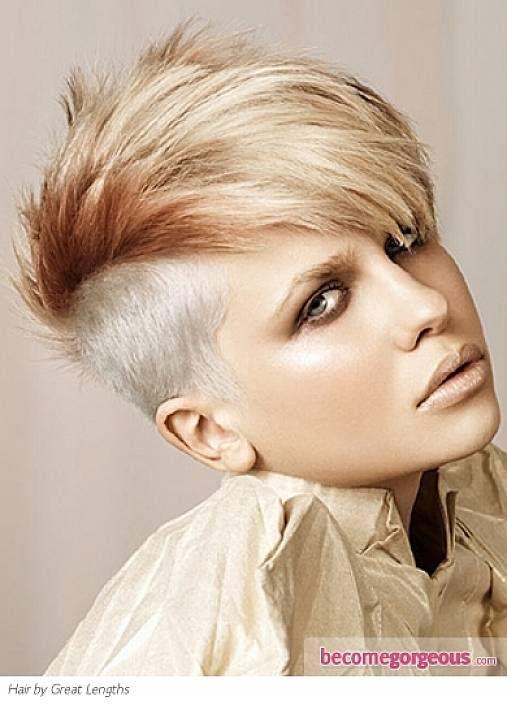 undercut punk hairstyle women with bangs