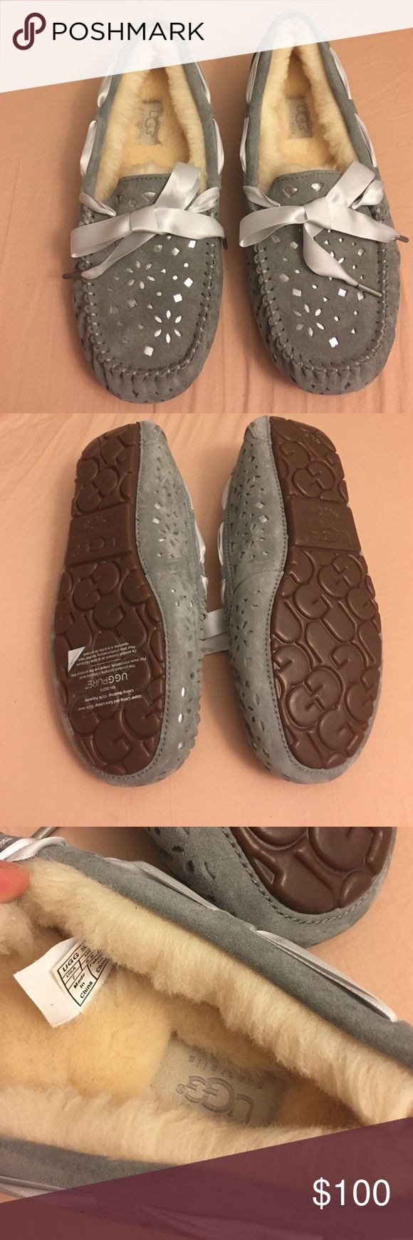 New UGG Australia moccasin These moccasins are warm and fuzzy for cool fall days! UGG Shoes Moccasins