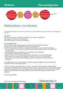 Citovaardigheden voor kleuters, reeksen, handleiding, kleuteridee.nl , met lessuggesties, series for preschool, user manual.