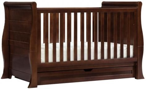 Walnut Imperio Cot by Bebe Care