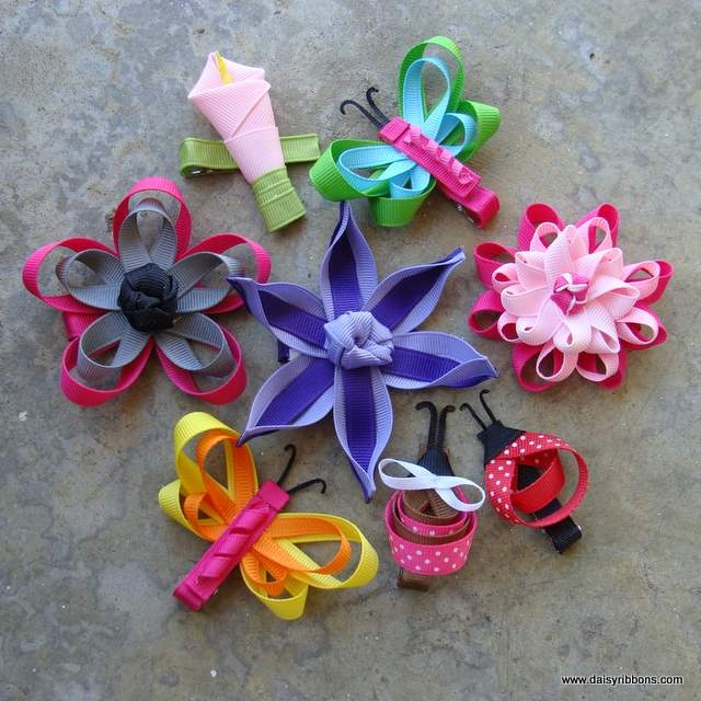 how to make ribbon barrettes bows