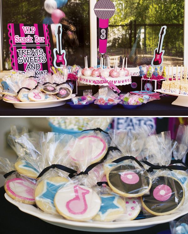 Rock star party: sweets table