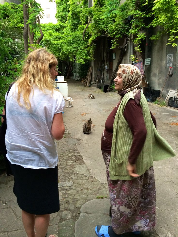Catwoman. Close to Istiklal, Beyoglu, Istanbul.