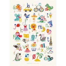 By MIMI'S CIRCUS: Mimi's ABC plakat By Helen Dardik (50 x 70 cm)