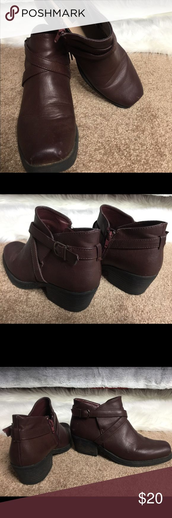 Boots Gently used brownish purple Forever 21 Shoes Ankle Boots & Booties
