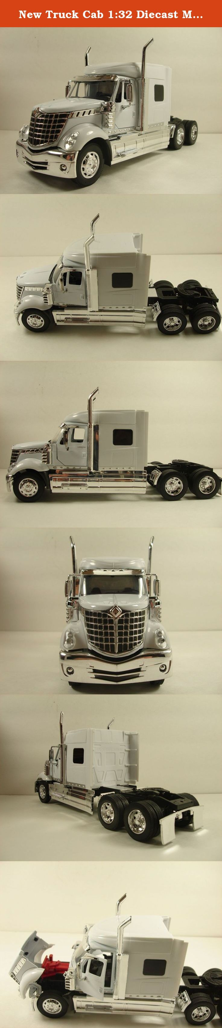 """New Truck Cab 1:32 Diecast Model Ray International LoneStar Tractor White. This is a high quality and detailed official licensed model made by NewRay The truck head is made of diecast metal and the body is made of high impact plastic The interior is modeled with steering wheel, dashboard and seats Openable front doors and hood Free wheeling truck, Rubber tire on each wheel Measurement about 10.5 """" L x 3.25""""W x 4.5""""H inches 27cm x 8cm x 11cm."""