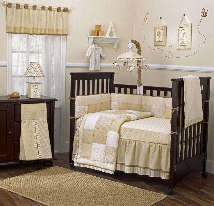 Elegance Boy Baby Nursery Ideas With Brown Painting Wall Including Rug On Hardwood Flooring Alaso Dark Wooden Crib Baby And White Curtain Corner Gorgeous Boy Baby Nursery Ideas Providing Utter Comfort and Safety Baby Nursery