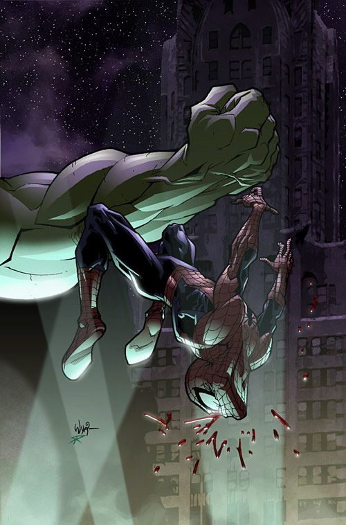 Spidey vs. Hulk   by RyanOttley              Follow The Best Comics Artwork Blog on Tumblr