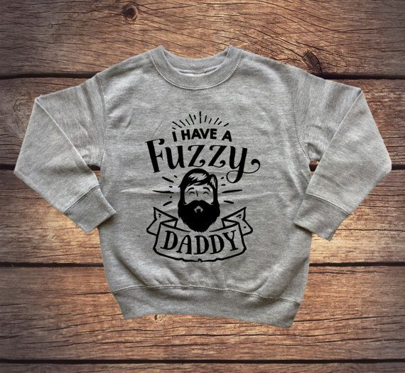 Ik heb een Fuzzy Daddy trui  nieuwe papa  Baby Boy  Hipster