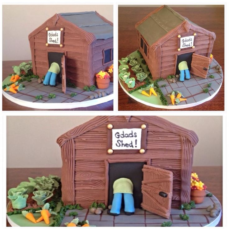 1000+ images about Shed Cakes on Pinterest Gardens ...