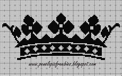 Penelopis' cross stitch freebies: Korona druga / Second crown...