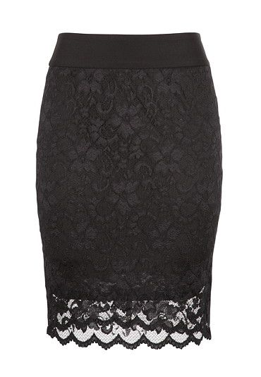 I just bought this yesterday!! Now I am ready to start working again, just so I can wear it :)  Knee Length Lace Pull on Skirt available at #Maurices