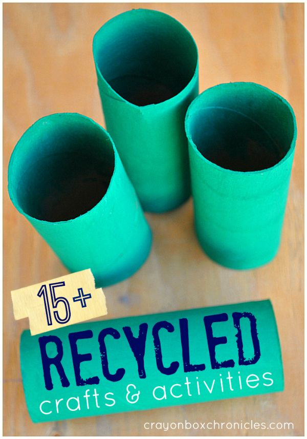 Love to recycle? 15+ creative recycled crafts and activities for kids by Crayon Box Chronicles