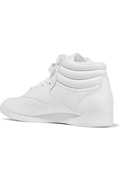 Reebok - Freestyle Leather High-top Sneakers - White - US8.5