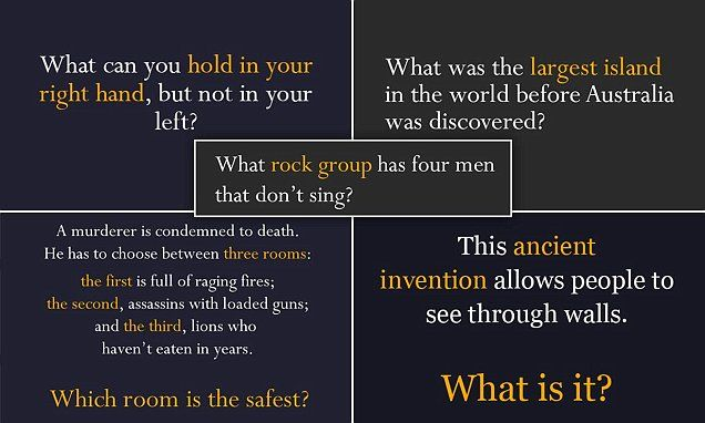 Can YOU solve these riddles without peeking at the answer?