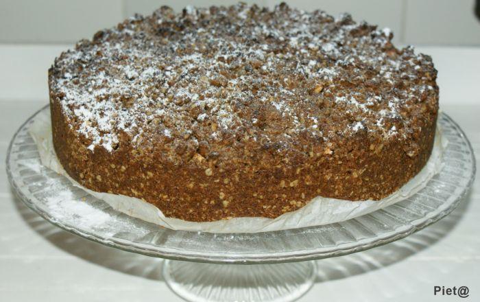 Verrukkelijke appeltaart met havermout en donkerbruine suiker ... heerlijk