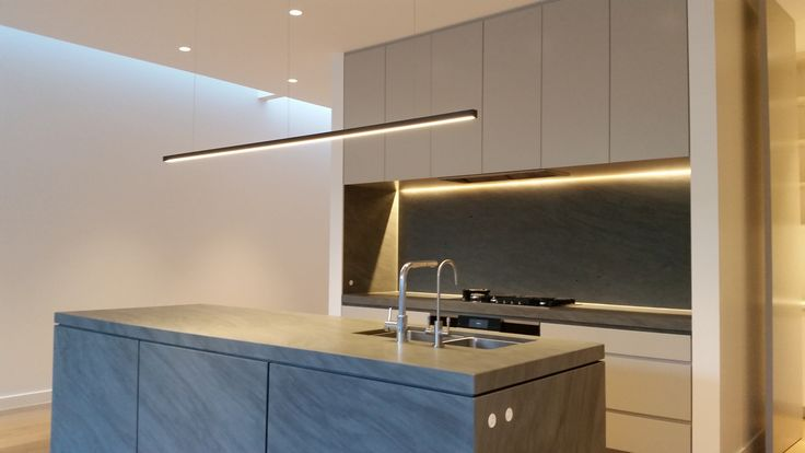 Modern Kitchen Suspended LED Profile | Stylish Designer Downlights