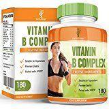 Vitamin B Complex - High Strength Supplement Contains all Eight B Vitamins in 1 Tablet, Vitamins B1, B2, B3, B5, B6, B12, D-Biotin & Folic Acid, 180 tablets (6 Months supply)
