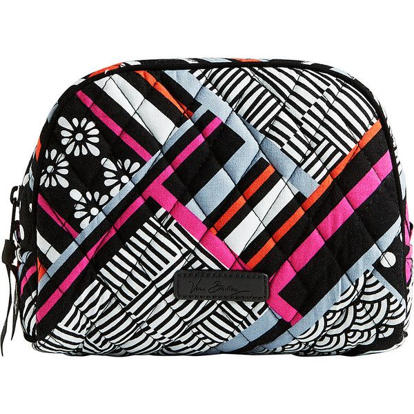 Vera Bradley Medium Zip Cosmetic Bag ($28) ❤ liked on Polyvore featuring beauty products, beauty accessories, bags & cases, pink, makeup bag case, make up purse, travel kit, toiletry kits and purse makeup bag