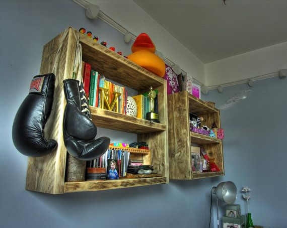 Niknak storage shelves reclaimed wood. by Naturalcity on Etsy, £55.00