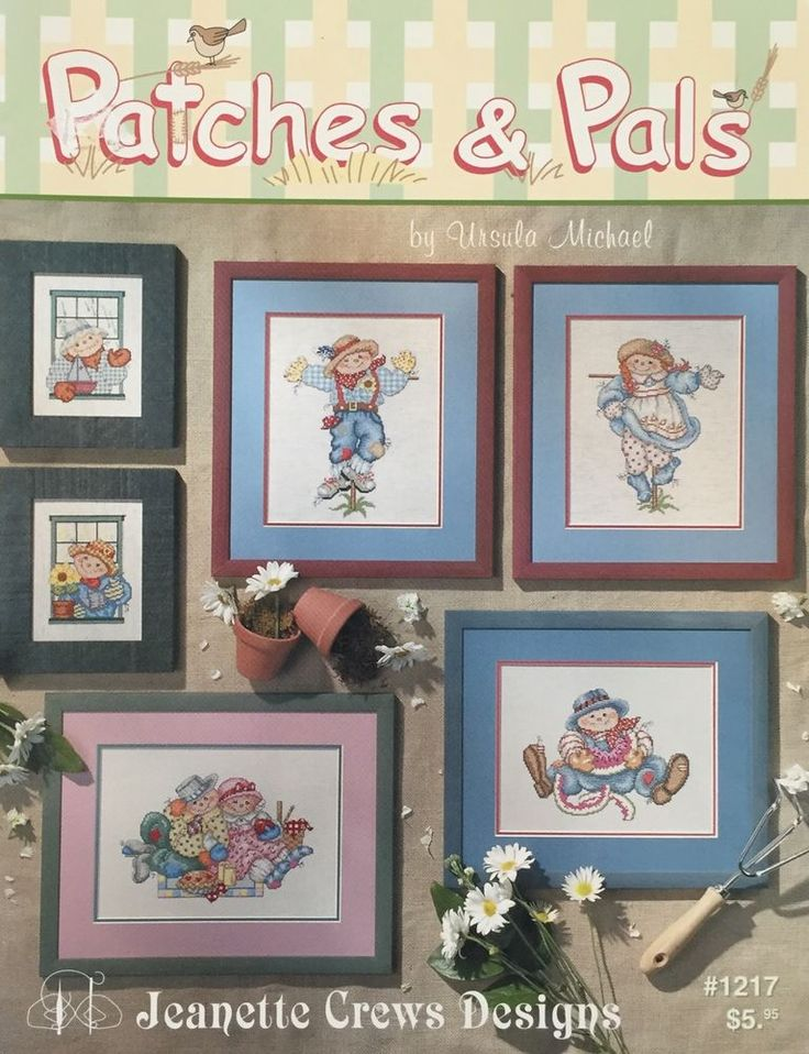 Patches & Pals Cross Stitch Pattern Booklet Jeanette Crews Fall Scarecrow  #JeanetteCrewsDesigns