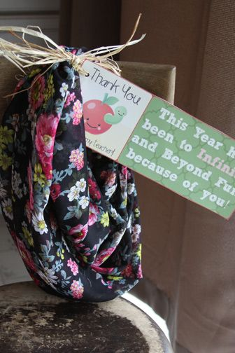 Infinity scarf teachers gift for female teacher