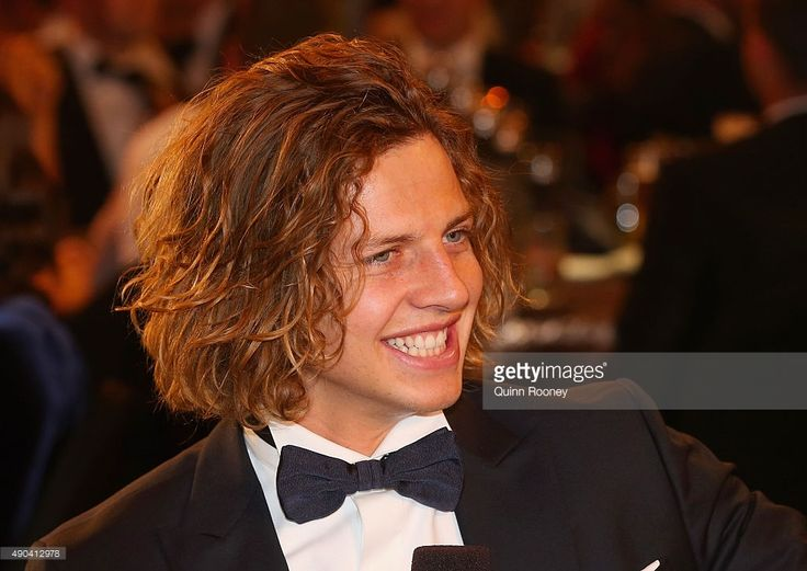Nat Fyfe of the Dockers smiles after winning the 2015 Brownlow Medal at the 2015 Brownlow Medal at Crown Palladium on September 28, 2015 in Melbourne, Australia.