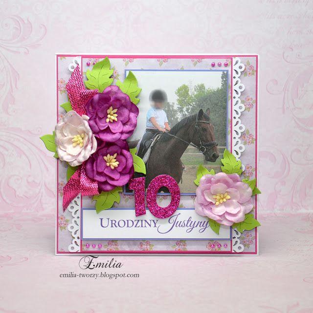 Emilia tworzy: Kartka urodzinowa na 10 urodziny z koniem/Birthday card with horse