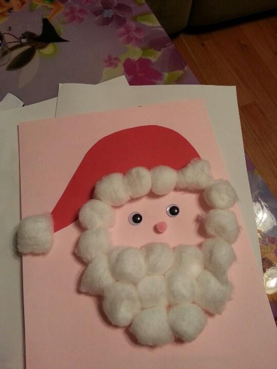 Cotton ball Santa!
