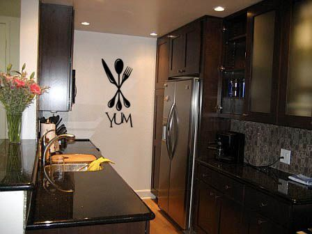 Best Beautiful Kitchen And Dining Images On Pinterest - Custom vinyl wall decals for kitchen backsplash