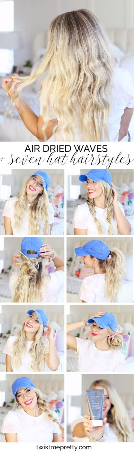 Air Dried Waves + 7 Hat Hairstyles MY MIND IS BLOWN!!!! @LivingProofInc, your In-Shower Styler works wonders on preventing frizz! #sponsored #YourBestHair