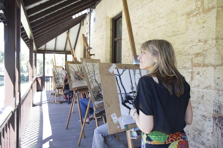 Drawing on the verandah