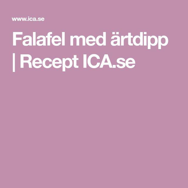 Falafel med ärtdipp | Recept ICA.se