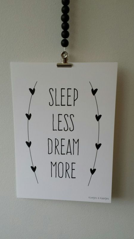 Poster Sleep less