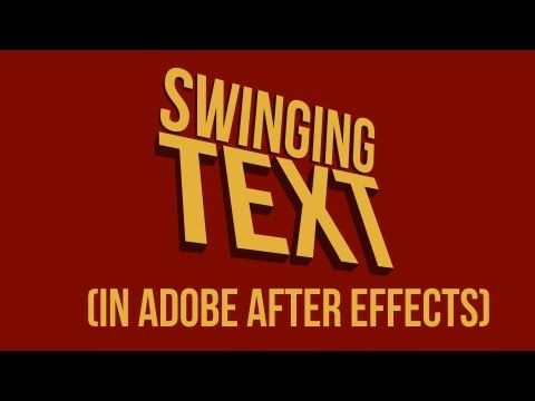 ▶ Swinging Text (motion typography technique) Tutorial - YouTube