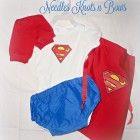 Baby Boy, Toddler Superman Costume, 4pc Superhero Halloween Costume