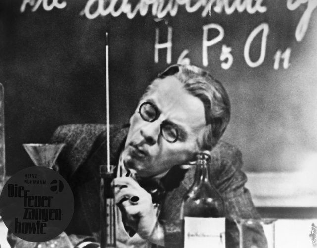 """Erich Ponto: Professor Crey (""""Schnauz"""") in dem Film """"Die Feuerzangenbowle"""""""