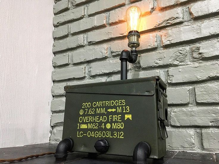 A personal favorite from my Etsy shop https://www.etsy.com/ca/listing/575467080/handcrafted-ammo-can-industrial-pipe
