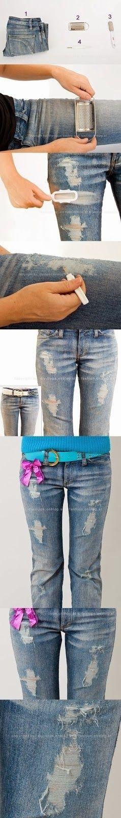 Facil idea para customizar tu ropa. #reciclar #DIY