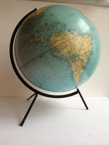 globus old globe terrestre carte taride mappemonde planisphere world map vintage globe. Black Bedroom Furniture Sets. Home Design Ideas