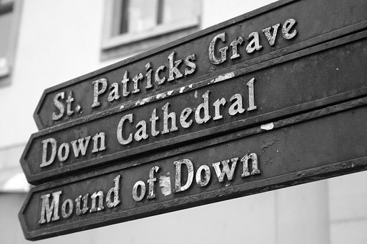 Downpatrick, County Down, where St. Patrick is said to be buried.