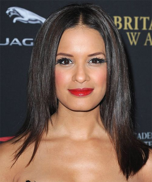 Rocsi Diaz Hairstyle - Formal Long Straight. Click on the image to try on this hairstyle and view styling steps!
