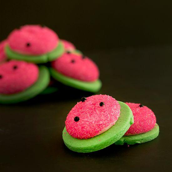 Watermelon Mallow Cookies