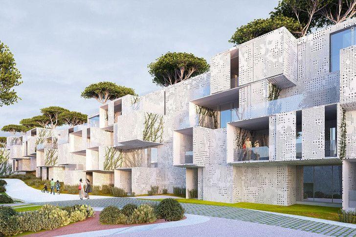 Spectacular green-roofed modular Tangier Bay Housing offers en...