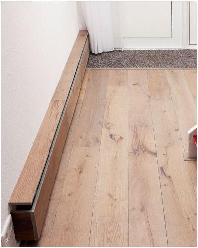 Plintverwarming met hetzelfde hout als de bestaande vloer