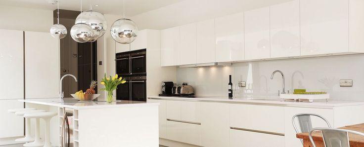 White Lacquer Open PLan Kitchen